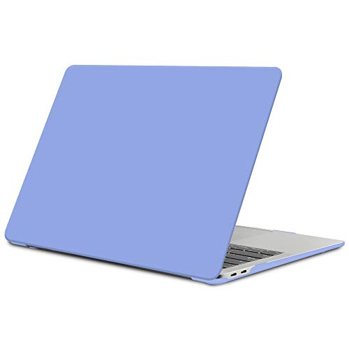 TECOOL MacBook Air 13 inch Case 2018 2019 2020 (Model: A2337 M1 / A2179 / A1932), Slim Plastic Hard Shell Case Cover for New MacBook Air 13.3 Retina with Touch ID - Serenity Blue