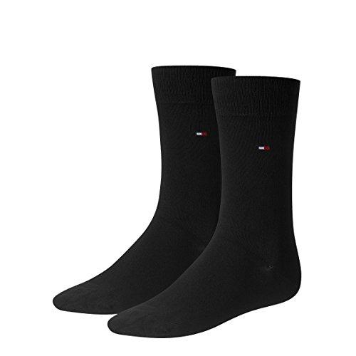 4 pairs TOMMY HILFIGER Men's Classic Socks Gr. 39 - 49 Business sneaker socks, Farben:200 - black;Größe Bekleidung:M