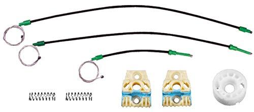 Bossmobil compatible con Passat (6B,3C2, 3C5), Delantero izquierdo, kit de reparación de elevalunas eléctricos