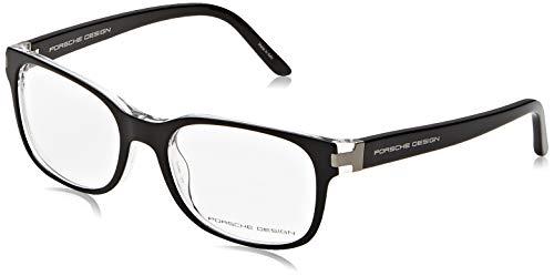 Porsche Design Brillengestelle P8250-A-53 Rechteckig Brillengestelle 53, Schwarz