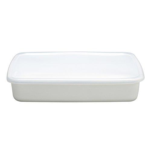 野田琺瑯 ホワイトシリーズ 保存容器 レクタングル浅型L シール蓋付 日本製 WRA-L