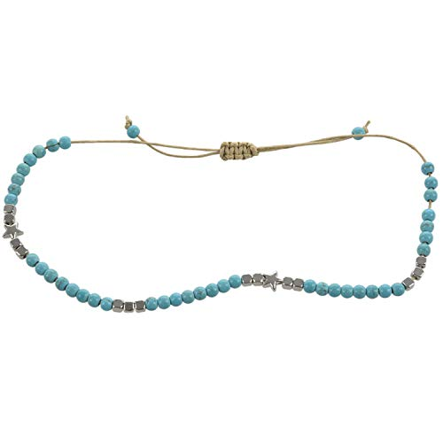 Gesh Bohemian Star Beads Stone Anklets for Women Vintage Woven Rope Pendant Bracelet On Leg Anklet Beach Ankle Jewelry New Gift