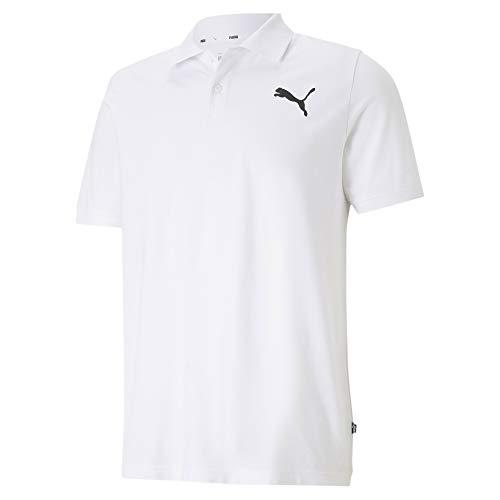 Puma Herren ESS Pique Polo Poloshirt, White-Cat, XL