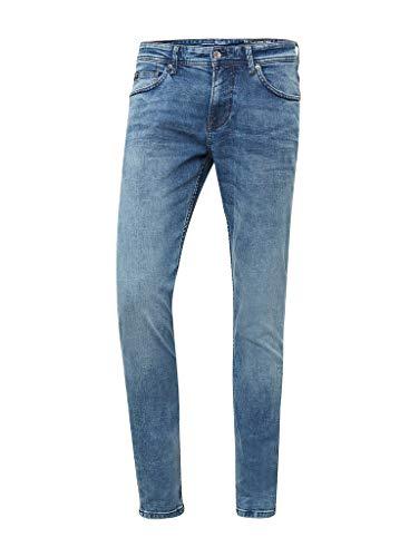 TOM TAILOR DENIM Herren Slim Piers Jeans, Light Stone Wash 10280, 34W / 36L