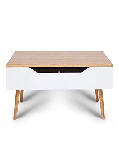 Sen Biao-Coffee table Mesa De Centro Elevadora Mesa De Centro De La Sala De Estar con FuncióN De Almacenamiento EstacióN MultifuncióN (50x90x40cm)