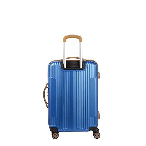 Murano Trolley Suitcase - Medium Size - Hard ABS Luggage - Navy Blue - IOA Range