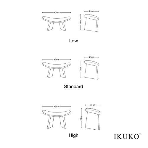 BLUECONY IKUKO Original Meditation Bench, Travel Version, Wooden Kneeling Ergonomic Seiza - Dark...