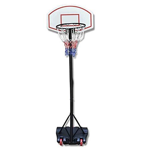 Canasta baloncesto pared Canasta de baloncesto, que se puede mover el aro de baloncesto ajustable en altura (250-310cm) del sistema de red del aro de ruedas cubierta Práctica al aire libre, la formaci