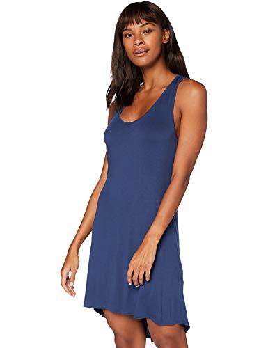 Iris & Lilly Cross Strap Back Camicia da Notte Donna, Blu (Insignia Blue), XS, Label: XS