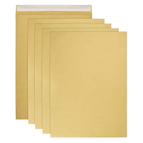 RMENOOR 50 Stück Briefumschläge A4 Braune Versandtaschen Große Faltentasche Ohne Fenster Din A4 Umschläge für Weihnachtskarten, Einladungen, Fotos, Briefe zu Senden 228mm x 324mm