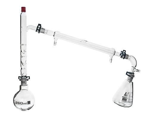 250ml Fractional Distillation Kit - 19/26 Joints - 9 Pieces - Eisco Labs