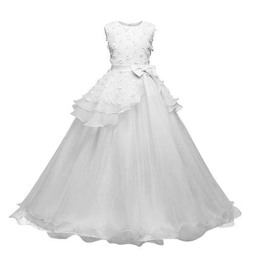 riou Vestido de Princesa del Desfile con Encajes sin Mangas Falda de...