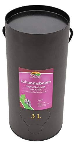 Bleichhof Schwarzer Johannisbeersaft - 100% Direktsaft, OHNE Zuckerzusatz, Bag-in-Box (1x 3l Saftbox)