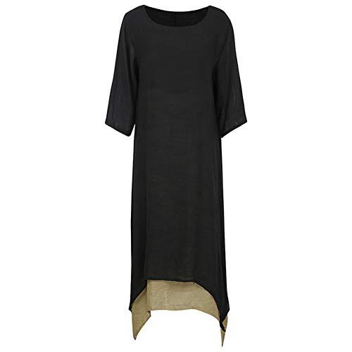 Da Donna Tasche Laterali Donna Oversize Baggy Loose Fit Felpa Tunica Vestito