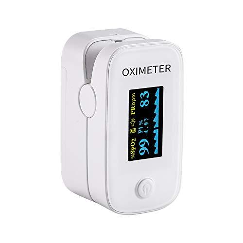 Oxímetro de oxígeno para Sangre con Pantalla LED, Monitor de Frecuencia Cardíaca...