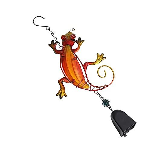DIMOLET Fensterdeko Hängend Metall Gecko Windspiele Outdoor Glockenspiel Mit S Haken Tierefigur Gartendeko Ornament Handwerk Geschenk