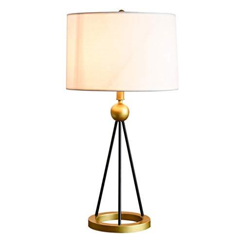 Lámpara de Mesa Rústica de Granja Sencillo americana Tabla dormitorio de la lámpara de cabecera de la lámpara de la sala LED lámpara de mesa nórdica cubierta de tela de la lámpara de tabla luz de la n