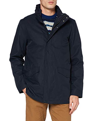GANT Herren D1. The Double Jacket Jacke, Navy, XXL