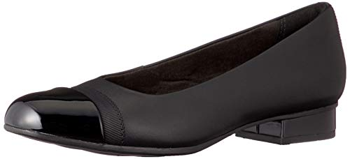 Clarks Damen Juliet Monte Geschlossene Sandalenn, Schwarz (Black Leather Black Leather), 40 EU