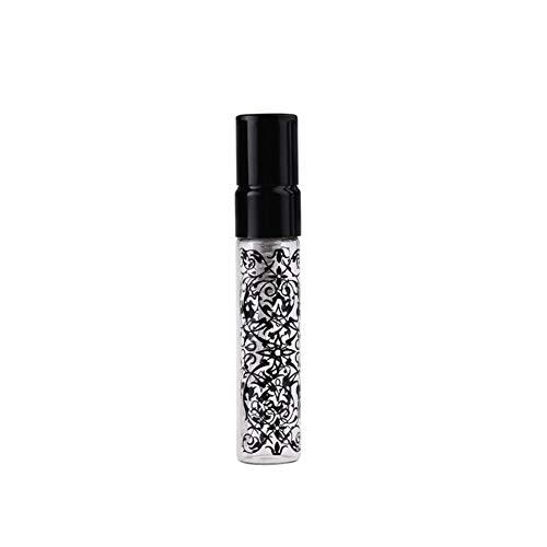 Flacon 2 Pieces/Lot 5ML 10ML Portable Nouveau Style en Verre Bouteille De Parfum avec De L'aluminium Et De Pulvérisation EmptyCosmetic Tube for Travele (Color : Black, Specifications : 10ml)