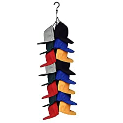 cheap YYST Cabinet Hangin Grid Keeper Cabinet Cap Rack Hat Holder Cabinet Hook Storage Organizer-Fit…