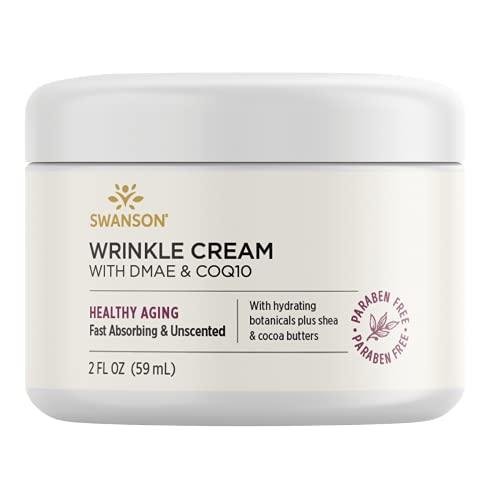 Swanson Wrinkle Cream with Dmae & Coq10 2 fl Ounce (59 ml) Cream