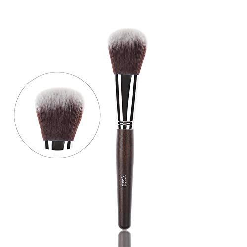 WBXZAL-Pinceau de maquillage tête plate comptant acajou couleur 3 lots brosse brosse brosse à poudre cosmétique fibres synthétiques ou artificielles
