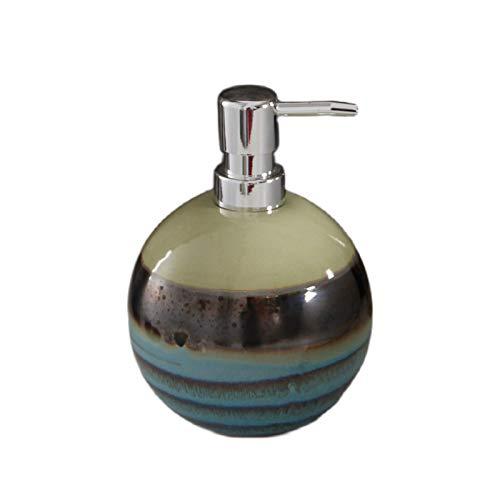 Dispensador de Jabón Botella de la bomba de la bomba del dispensador de jabón de la mano líquida de la cerámica para la cocina, el baño - ideal para el plato de jabón y aceites esenciales Bombas relle