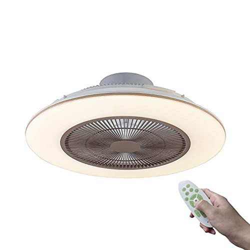 SXYRN Modern Ceiling Fan with Lighting Hidden Fan Dimmable Led Ceiling Light with Remote Control Quiet Fan Bedroom Ceiling Lamp,Gray