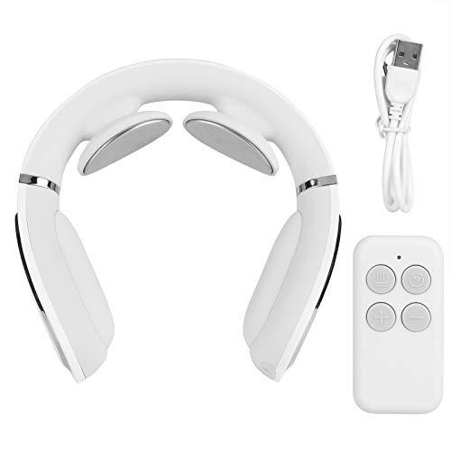 Masajeador de Cuello eléctrico, Ajuste de 15 Niveles, Herramienta de Masaje Cervical USB, masajeador Recargable Multifuncional con Control Remoto