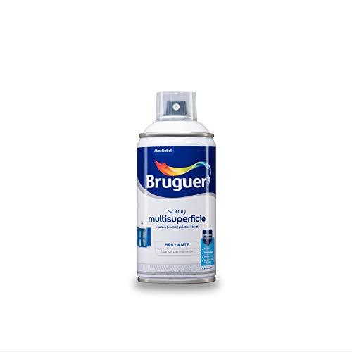 Bruguer Acrylic Multisuperficie Esmalte al agua en Spray Brillante Blanco Permanente 300 ml