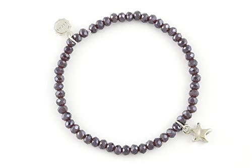 Lizas - Bracciale di perle grigio, diversi modelli e sintetico., colore: Grigio con stella., cod. Lizasgraua