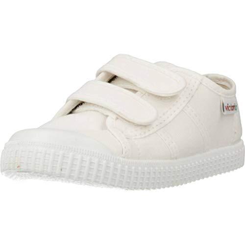 Victoria Basket Lona Dos Velcros, Zapatillas Unisex niños, Blanco 20 Blanco, EU