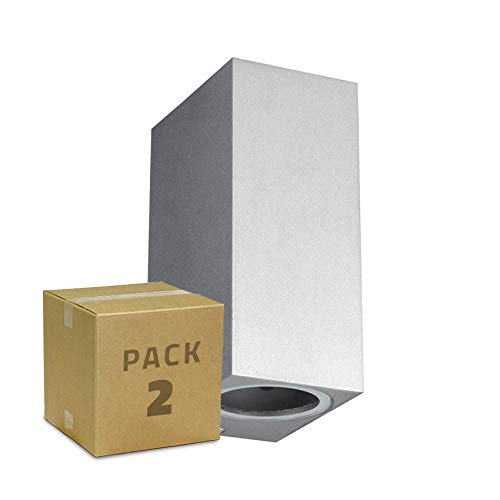 LEDKIA LIGHTING Pack Applique Miseno Argentée Éclairage Double Face (2 Un) Argent