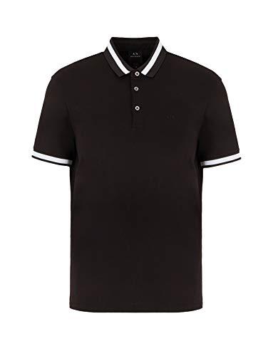 Armani Exchange Herren Elegant, Small Collar Poloshirt, Schwarz (Black 1200), X-Large (Herstellergröße:XL)