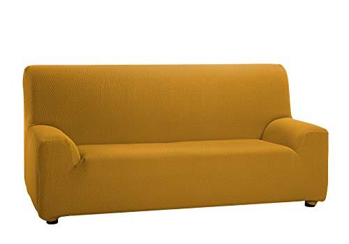 Martina Home Tunez, Copridivano elastico, Tela (50% poliestere, 45% cotone, 5% elastan), Mostarda, 2 Posti (120-190 cm larghezza)