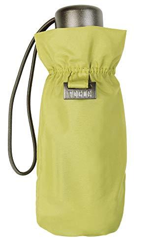 Paraguas Vogue Mujer. Sólo Pesa 180 Gramos. Paraguas Plegable, Medida Cerrado 17 cm. Paraguas Mini Mujer. Protección Solar FPS+50, antiviento y antigoteo. (Verde Claro)