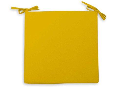 Cojín para Silla 40 x 40 cm Alix Amarillo
