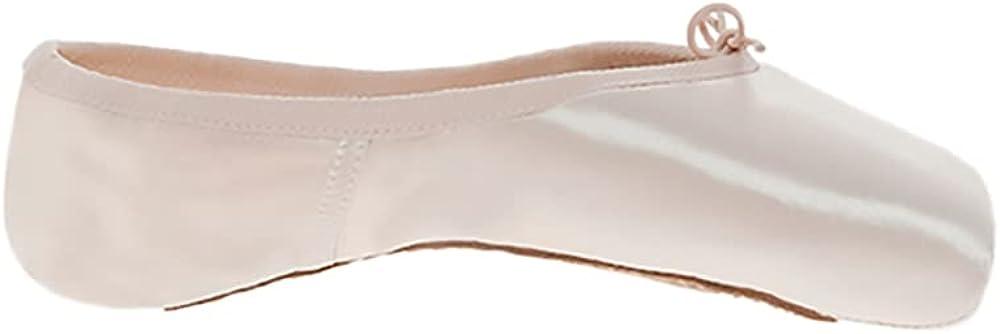 Russian Pointe Rubin Pointe Shoes, U-Cut Flexible Medium Shank - Size 38, Width 2, Vamp V2