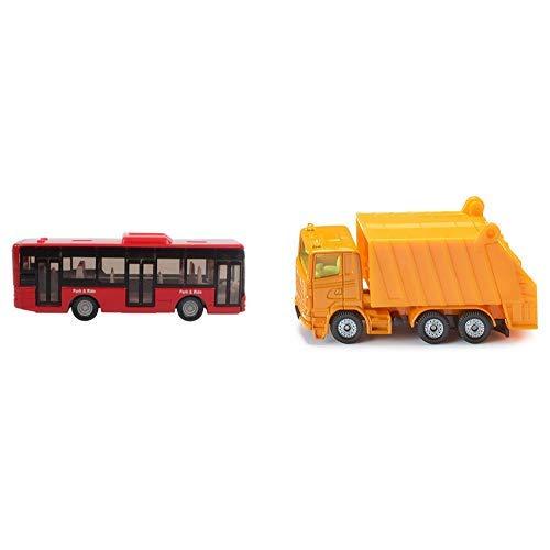 Siku 1021 - Linienbus, farblich sortiert, Farbe nicht wählbar &  0811 - Müllwagen