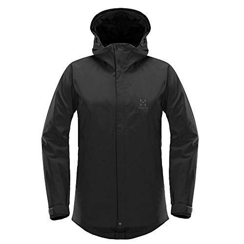 Haglöfs Regenjacke Frauen Outdoorjacke Stratus Wasserdicht, Winddicht, Atmungsaktiv True Black L L - Empty for carryovers -