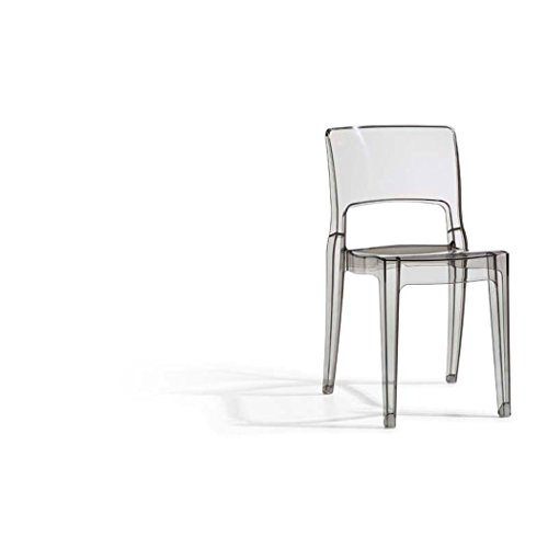 SCAB DESIGN - Chaise Lot 2 chaises Isy antishock transparent fumé