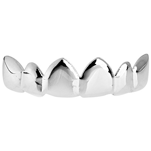 Iced Out One Size Fits All Bling Grillz - Relax TOP - Silber