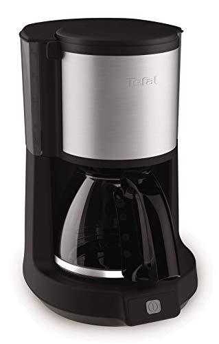 Tefal CM 3708 koffiezetapparaat, 1000 W, 1,25 l, 43 decibel, zwart/roestvrij staal
