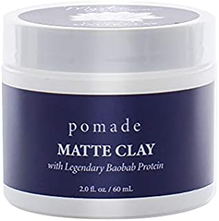 Mystic Botanicals Matte Clay Pomade With Mango Butter and Maca, 2 Fluid Ounce