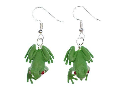 Frosch Frösche Ohrringe Miniblings Hänger Laubfrosch Froschkönig König Gummi