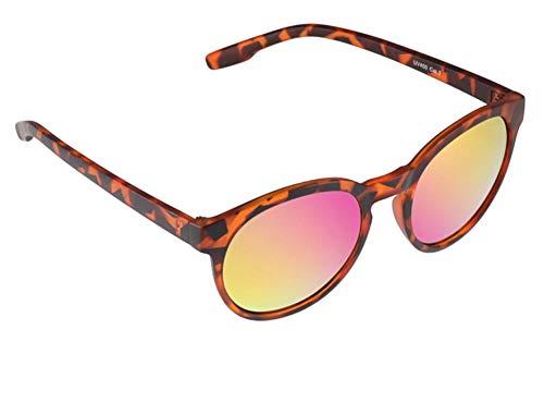Chic-Net hoogwaardige zonnebril rond John Lennon kleurrijk gespiegeld vintage 400UV sleutelgatsteg