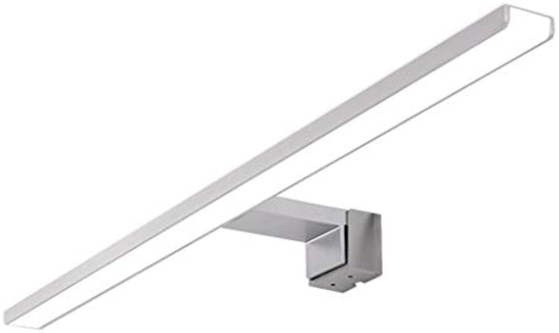 Spiegelleuchten Spiegellampen für das Bad Spiegel Frontlicht Frei Stanzen Bad Spiegel Lampe Vanity Mirror Spiegel Spiegel Licht - Silber (kaltes Weies Licht) Eitelkeitslicht (gre   60CM 8W)