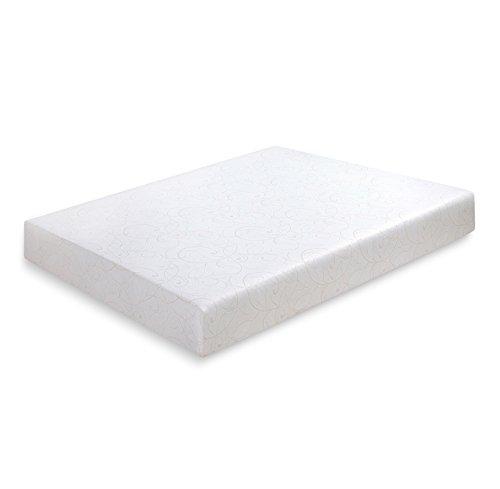 PrimaSleep 9 Inch Multi-Layered Memory Foam, King Mattress, White