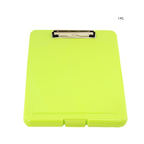 Adorox Letter Size Slim-case Storage Clipboard Neon Green Plastic Storage Clipboard for Students, Teachers, Sales, Utility, Industrial, Office Professional (Neon Green)